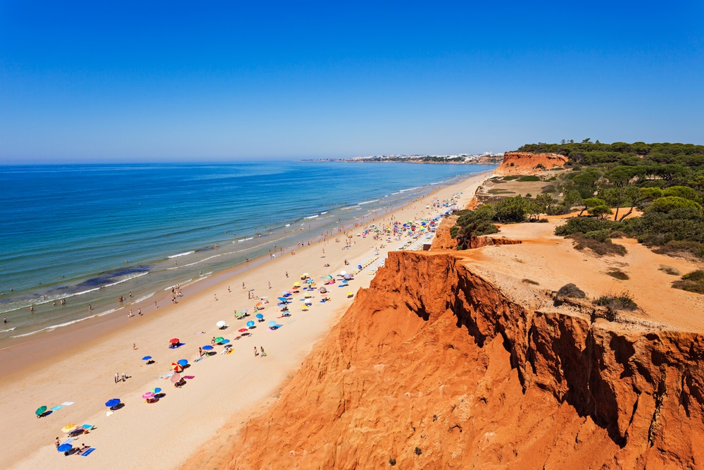 mooiste stranden europa - falesia beach