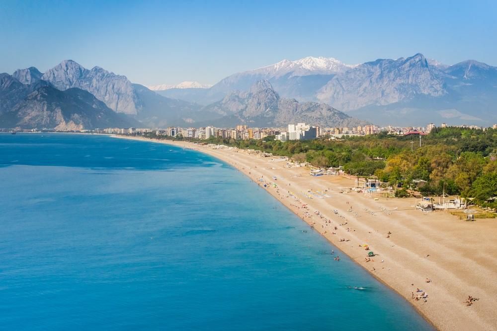 mooiste stranden turkije - konyaalti beach