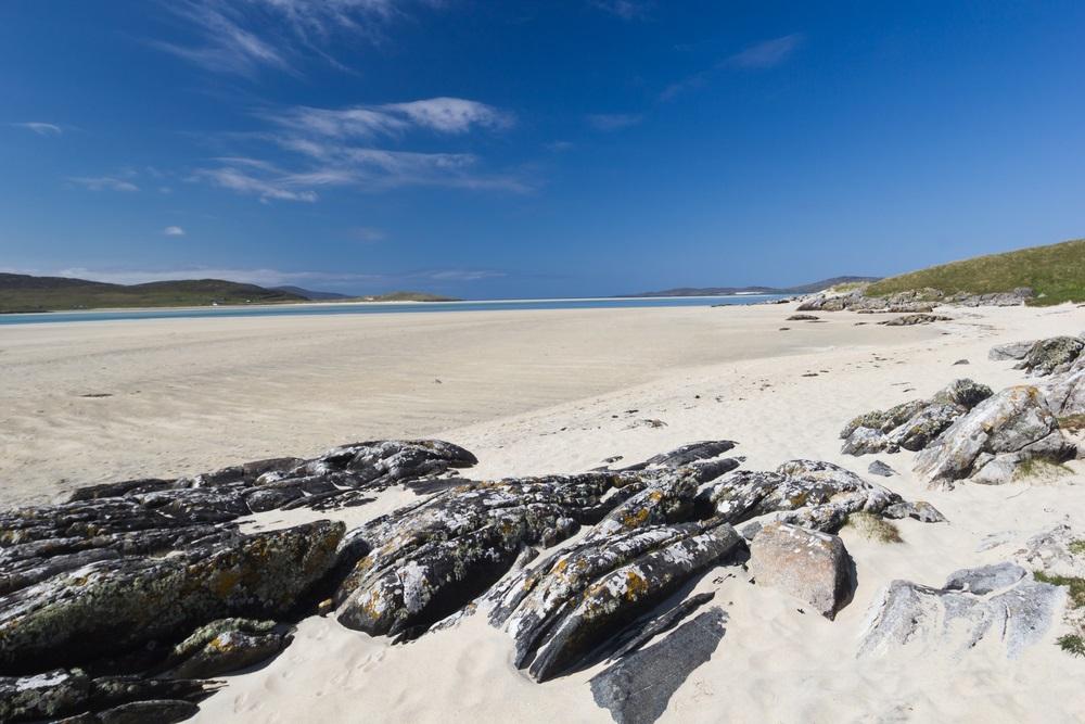 Luskentyre Beach schotland dichtbij europa strand