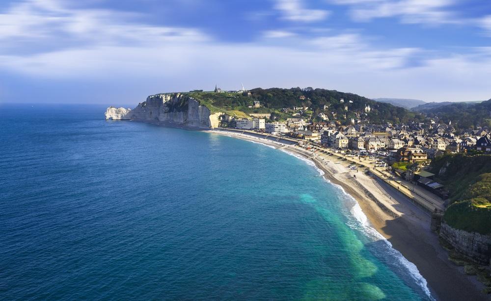 etretat frankrijk strand dichtbij europa