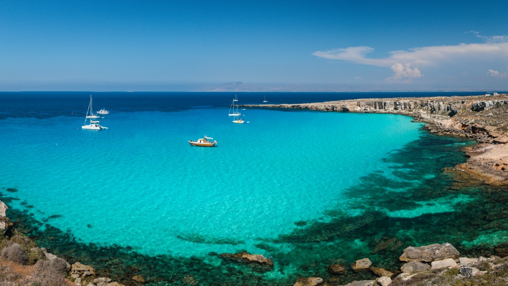 mooiste stranden sicilie - Cala Rossa